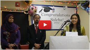 Saleha Speech on Graduation Party