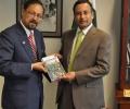 Ehtesham with Hussain Haqani